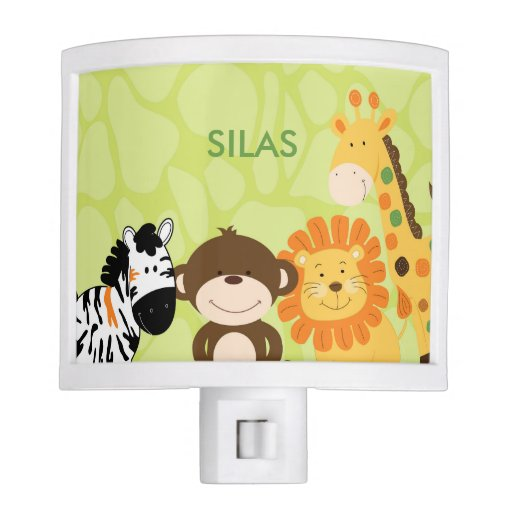 Bright Jungle Safari Night Light
