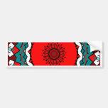 Bright Kaleidoscope Mandala Bumper Sticker