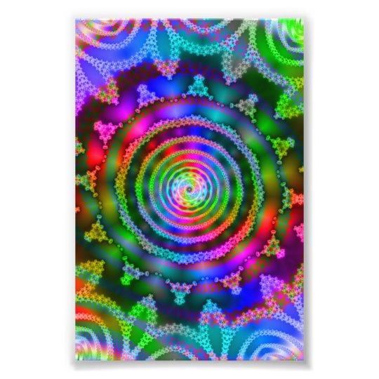 Bright Kaleidoscope Photo Print