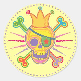 Bright King Cole Classic Round Sticker