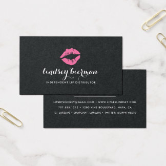 Bright Kiss | Lip Product Distributor Business Card