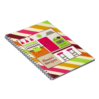 Bright Kitchen & Stripes Recipe Notebook