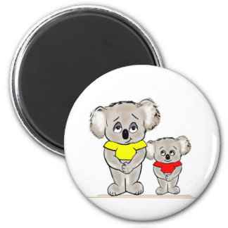 Bright Koalas 2 Inch Round Magnet