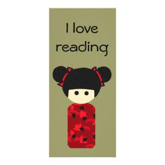 Bright Kokeshi Bookmark Rack Card