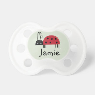 Bright Ladybug Personalized Infant Pacifier
