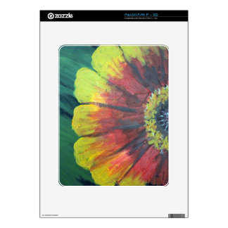 Bright large flower design skin for the iPad