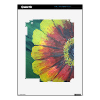 Bright large flower design skin for the iPad 2