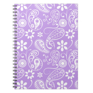 Bright Lavender Paisley Notebook