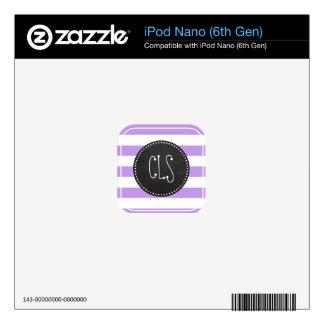 Bright Lavender Stripes; Retro Chalkboard Skins For iPod Nano 6G
