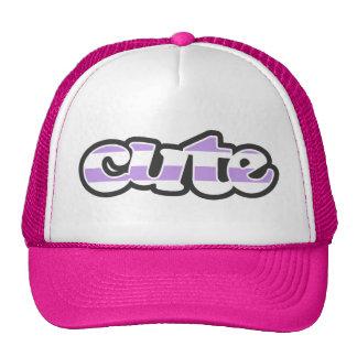 Bright Lavender Stripes; Striped Trucker Hat