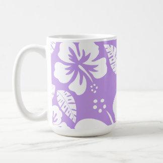 Bright Lavender Tropical Hibiscus Coffee Mug