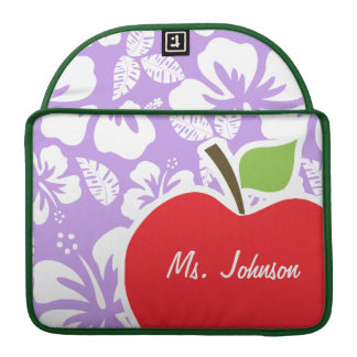 Bright Lavender Tropical Hibiscus Sleeve For MacBooks