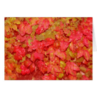 Bright Leaves Abstract Card