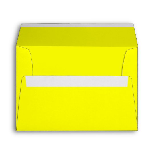 bright lemon neon yellow 5x7 blank envelopes zazzle com