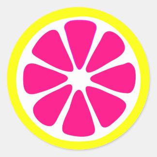 Bright Lemon Slice Sticker Round Sticker
