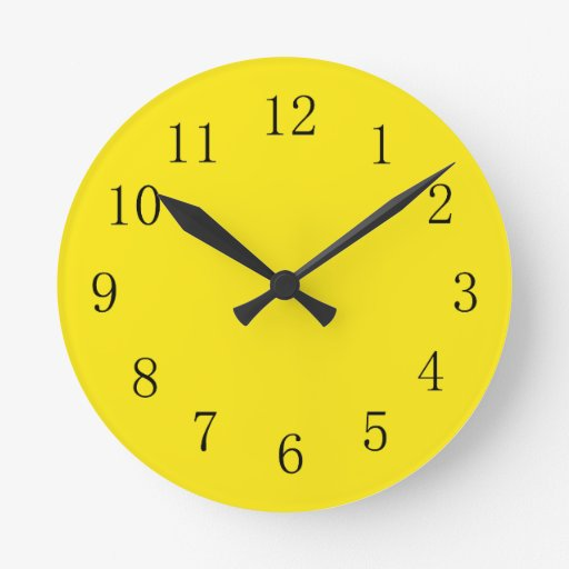 yellow clocks yellow wall clock designs