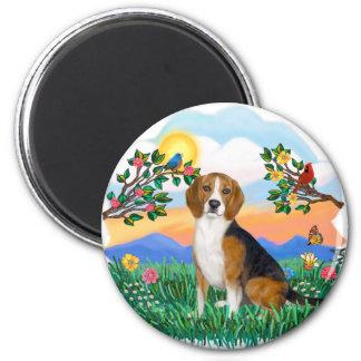 Bright Life - Beagle 4 Fridge Magnet