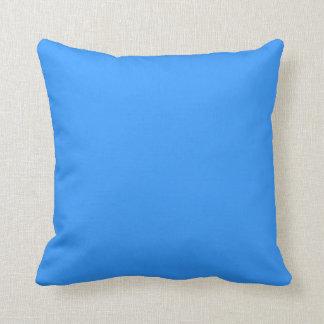 bright light blue pillow