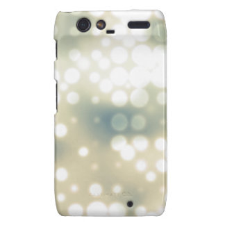 Bright Light Flare Polka Dot Pattern Motorola Droid RAZR Covers