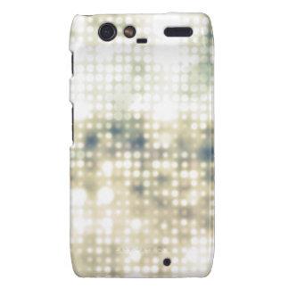Bright Light Flare Polka Dot Pattern Motorola Droid RAZR Cases