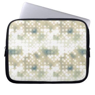 Bright Light Flare Polka Dot Pattern Laptop Sleeve