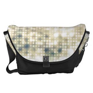 Bright Light Flare Polka Dot Pattern Messenger Bag