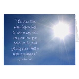 Bright Light Matthew 5:16 Card