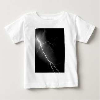 Bright Lightning Dark Night Sky Baby T-Shirt