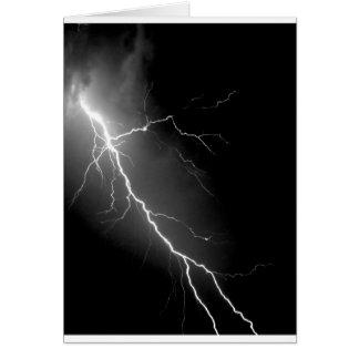 Bright Lightning Dark Night Sky Card