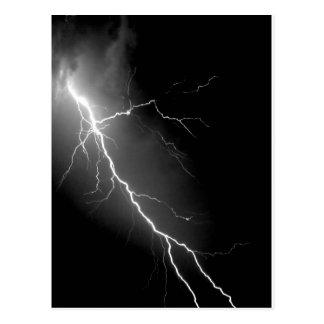 Bright Lightning Dark Night Sky Postcard