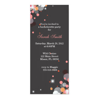 "Bright Lights 4"" X 9.25"" Invitation Card"