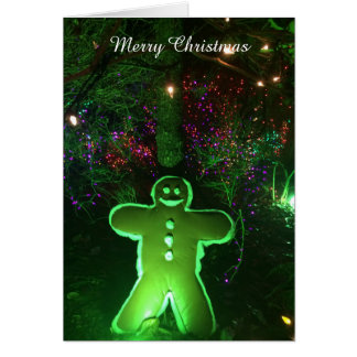 Bright Lights and Gingerbread Man Card