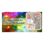 Bright Lights And Ornaments Photo Holiday Card Personalized Photo Card