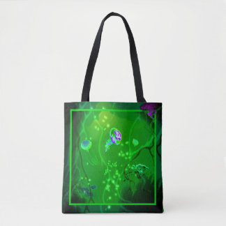 Bright Lights at Depth Tote Bag (Green)