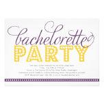 Bright Lights Bachelorette Party Invitation