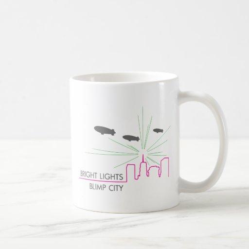 Bright Lights Blimp City Mugs
