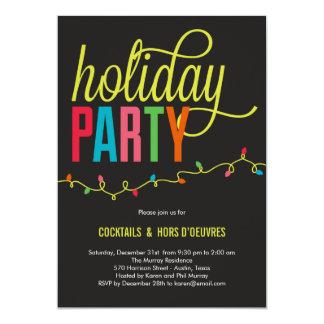 Bright Lights Holiday Party Invitation Invitations