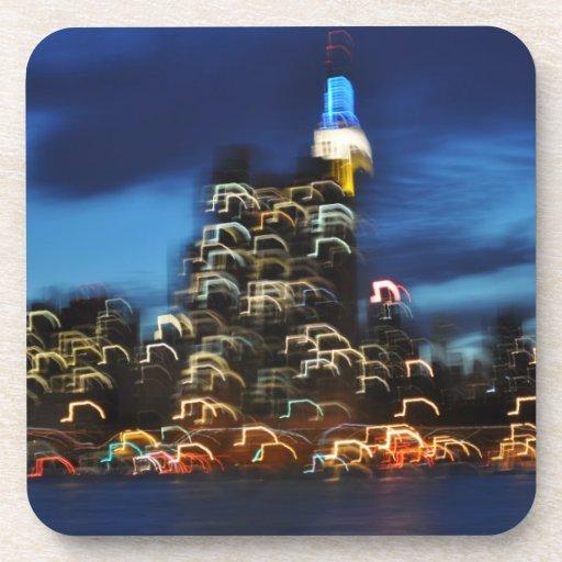 Bright Lights of New York City Beverage Coaster