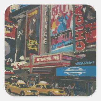 Bright Lights Times Square 2012 Square Sticker