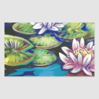 bright lilies rectangle sticker