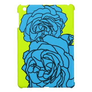Bright Lime & Aqua Pop Art Roses for iPad Mini iPad Mini Case
