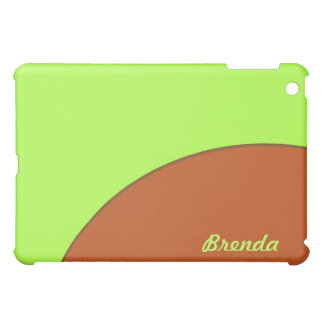Bright Lime Green and Brown Mod Case For The iPad Mini