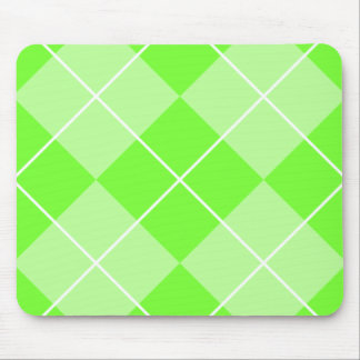 Bright Lime Green Argyle Mouse Pad