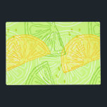 "Bright lime green citrus lemons pattern placemat<br><div class=""desc"">Fun attractive Bright lime green citrus lemons pattern perfect for hot summer and chilling time. Great for lemonade business decoration.</div>"