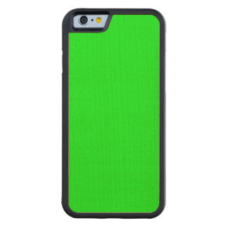Bright lime green color carved® maple iPhone 6 bumper case