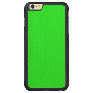 Bright lime green color carved® maple iPhone 6 plus bumper case