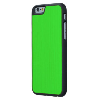Bright lime green color carved® maple iPhone 6 slim case