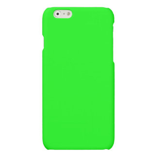 Bright lime green color matte iPhone 6 case