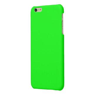 Bright lime green color matte iPhone 6 plus case