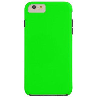 Bright lime green color tough iPhone 6 plus case